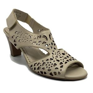 Alpina Perforated Open Toe Ankle Strap Sandal